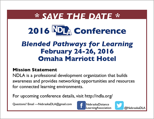 2016 NDLA Save the Date