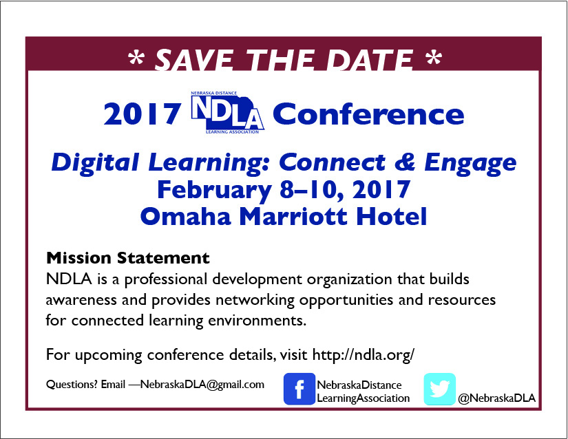 NDLA 2017 Save the date, February 8-10